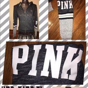 Victoria's Secret VS PINK Zipped Hoodie Sz XSMALL